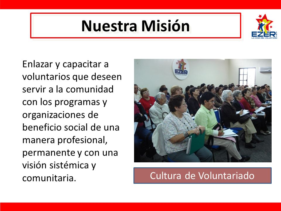 Cultura de Voluntariado