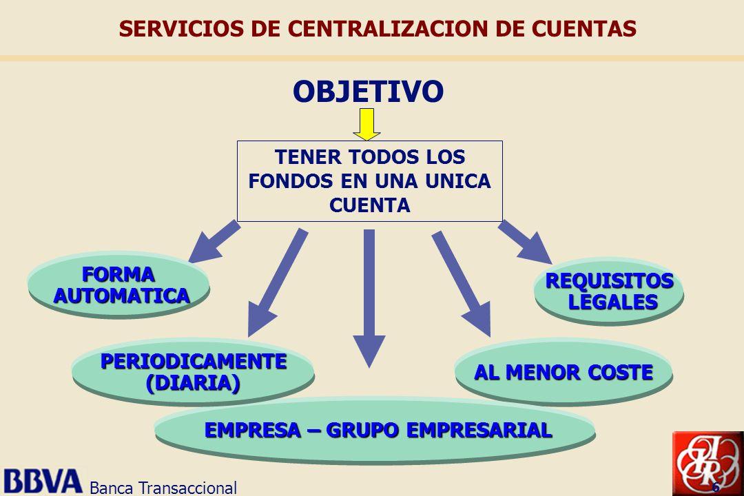SERVICIOS DE CENTRALIZACION DE CUENTAS