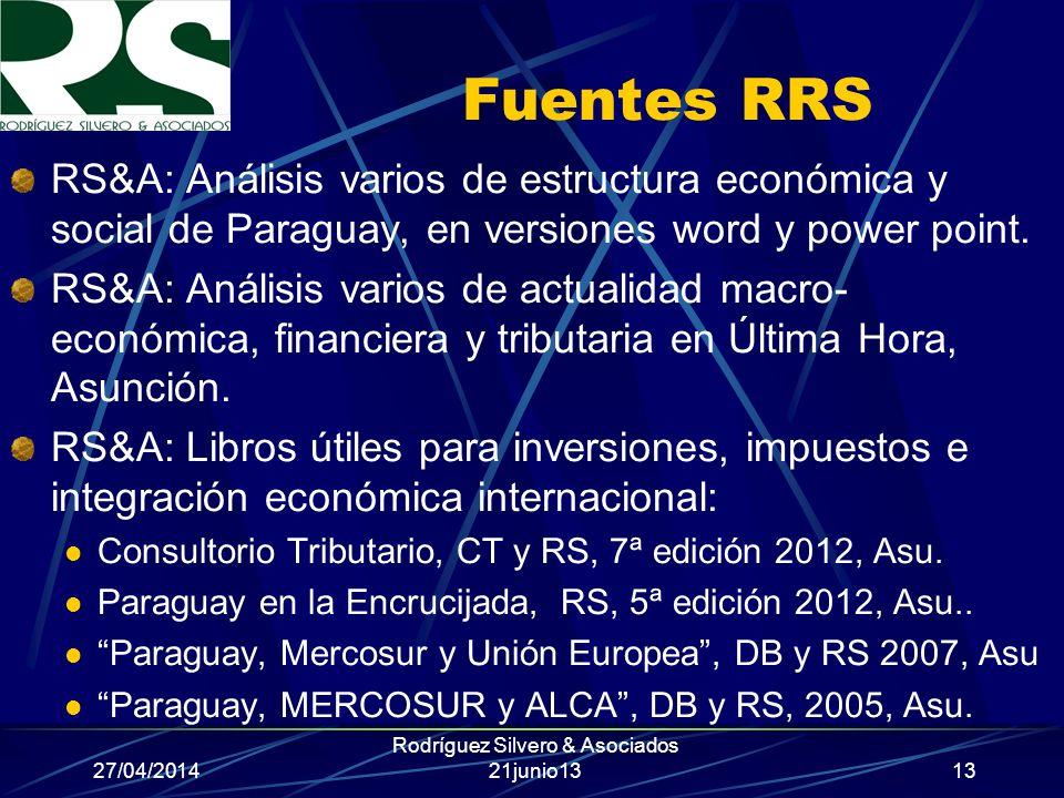 Rodríguez Silvero & Asociados 21junio13