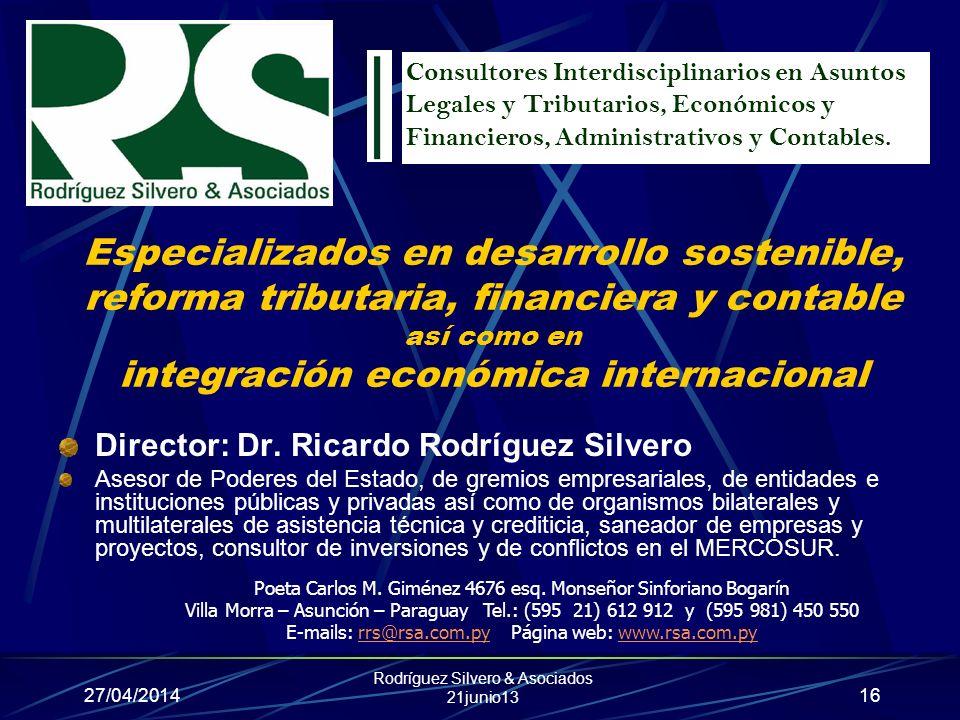 Consultores Interdisciplinarios en Asuntos Legales y Tributarios, Económicos y Financieros, Administrativos y Contables.