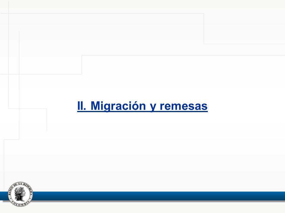 II. Migración y remesas 6