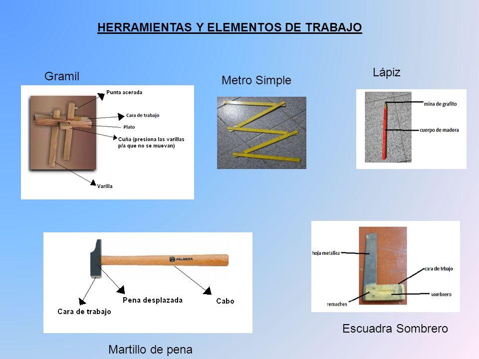 HERRAMIENTAS Y ELEMENTOS DE TRABAJO