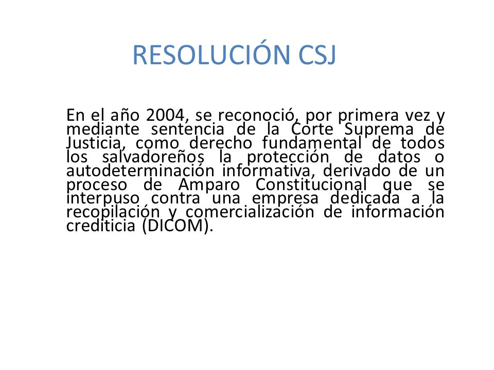 RESOLUCIÓN CSJ