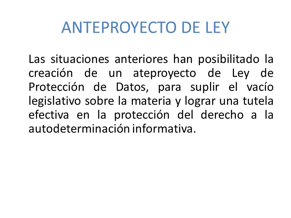 ANTEPROYECTO DE LEY