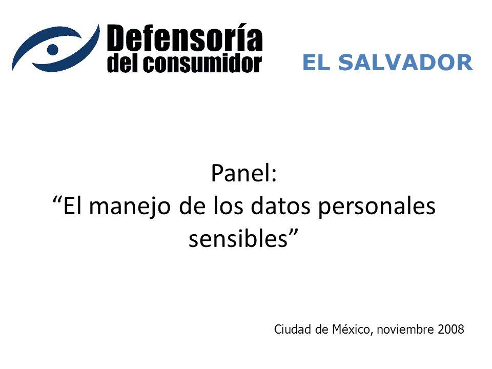 Panel: El manejo de los datos personales sensibles