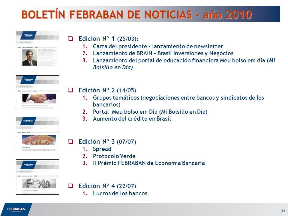 BOLETÍN FEBRABAN DE NOTICIAS – año 2010