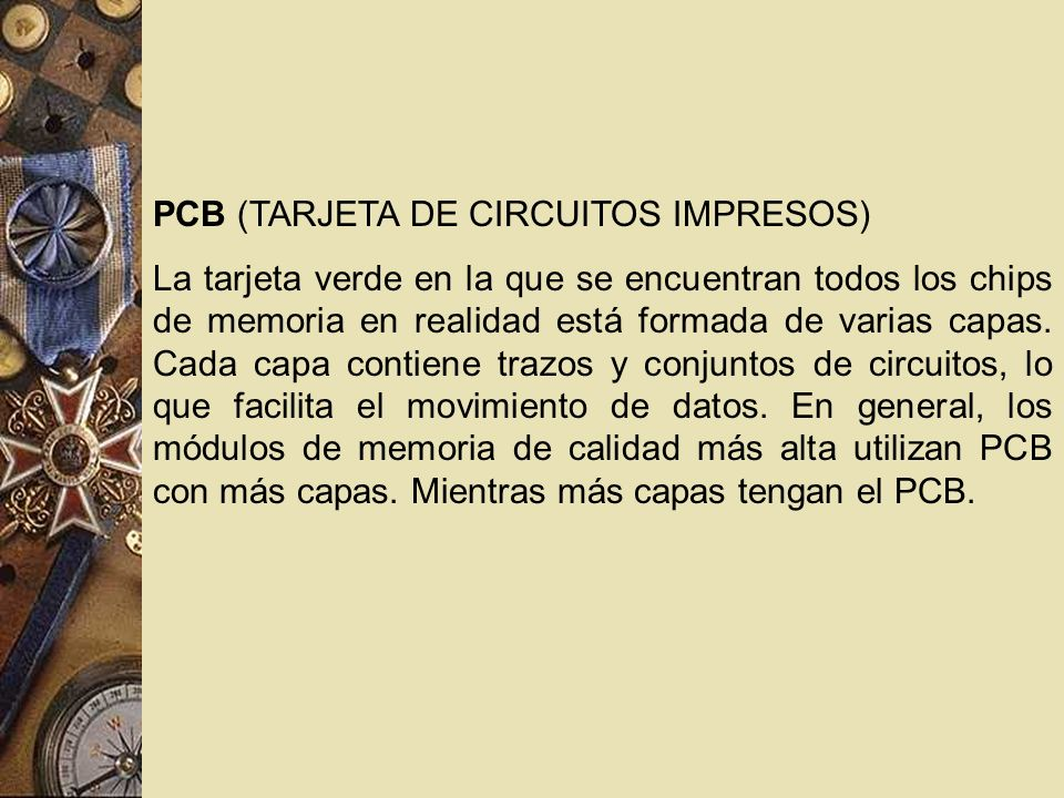 PCB (TARJETA DE CIRCUITOS IMPRESOS)