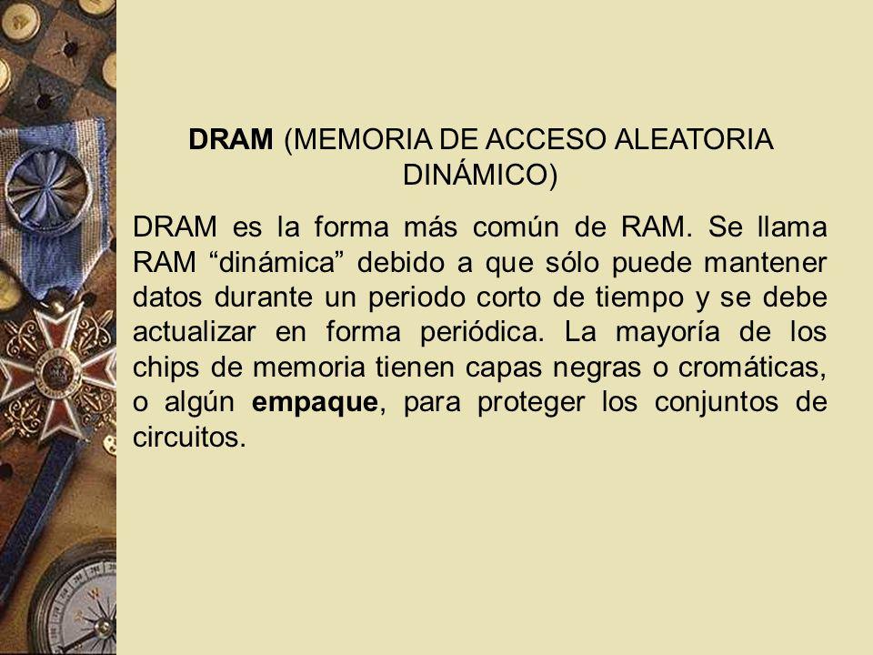 DRAM (MEMORIA DE ACCESO ALEATORIA DINÁMICO)