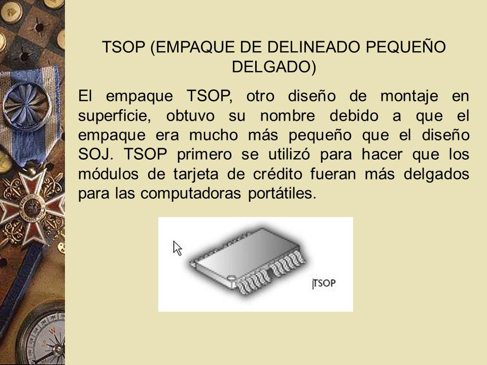 TSOP (EMPAQUE DE DELINEADO PEQUEÑO DELGADO)