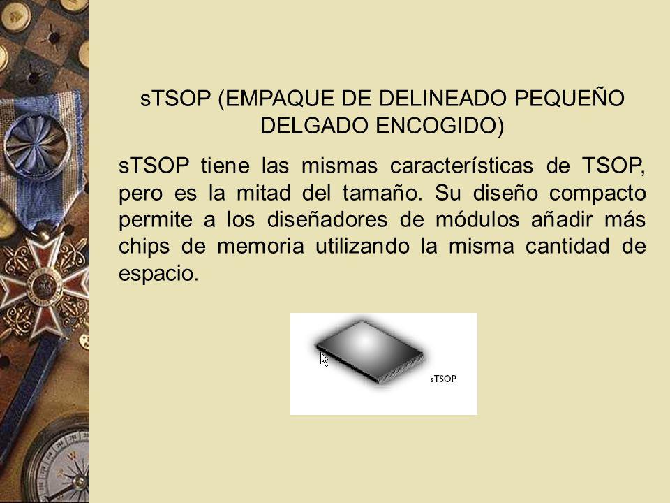 sTSOP (EMPAQUE DE DELINEADO PEQUEÑO DELGADO ENCOGIDO)