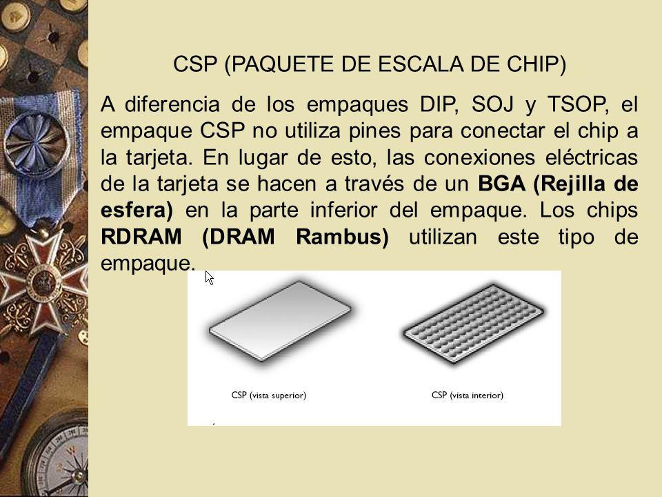 CSP (PAQUETE DE ESCALA DE CHIP)