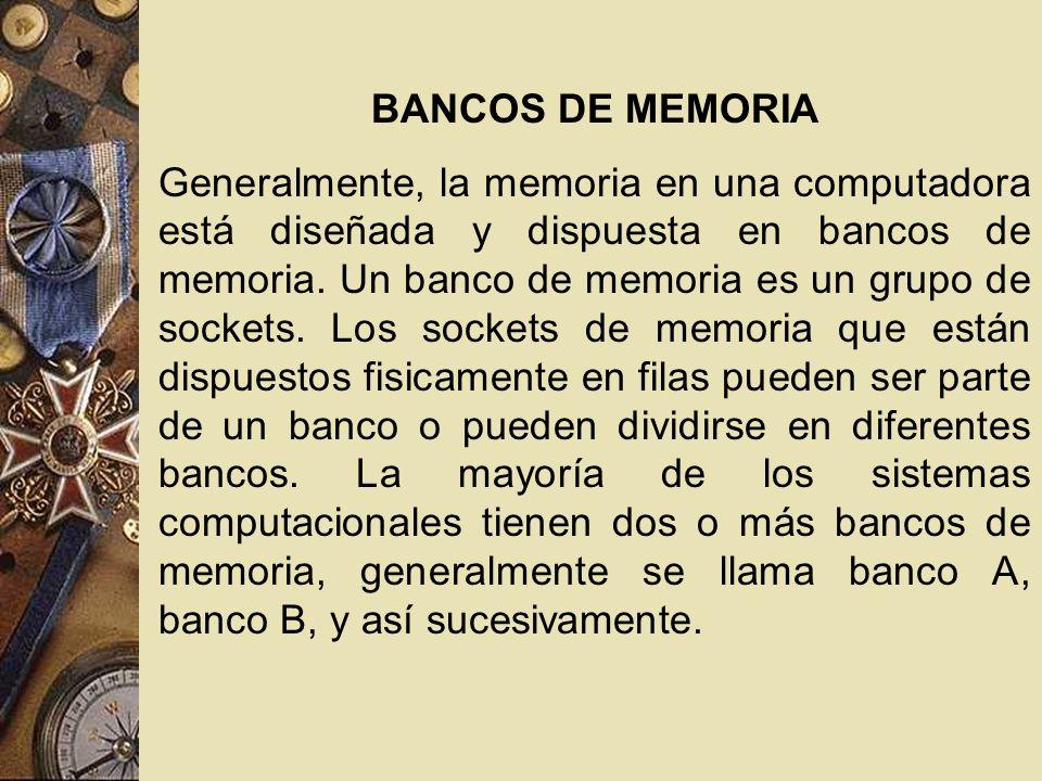 BANCOS DE MEMORIA