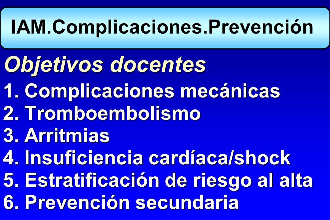 IAM.Complicaciones.Prevención