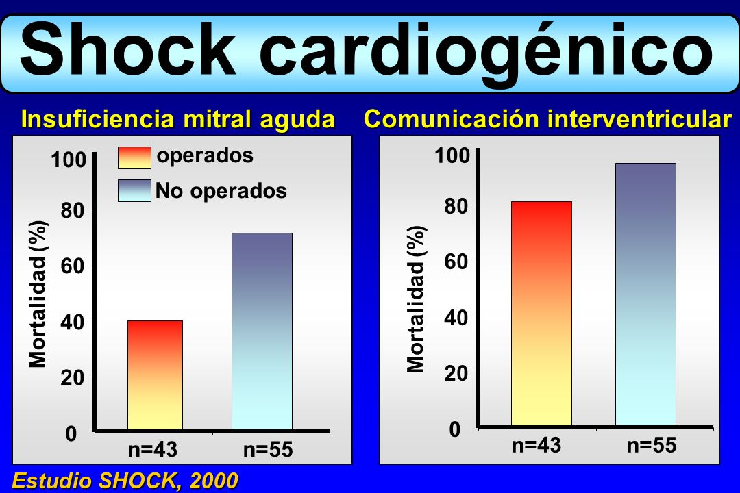 Shock cardiogénico Insuficiencia mitral aguda