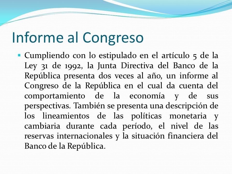 Informe al Congreso