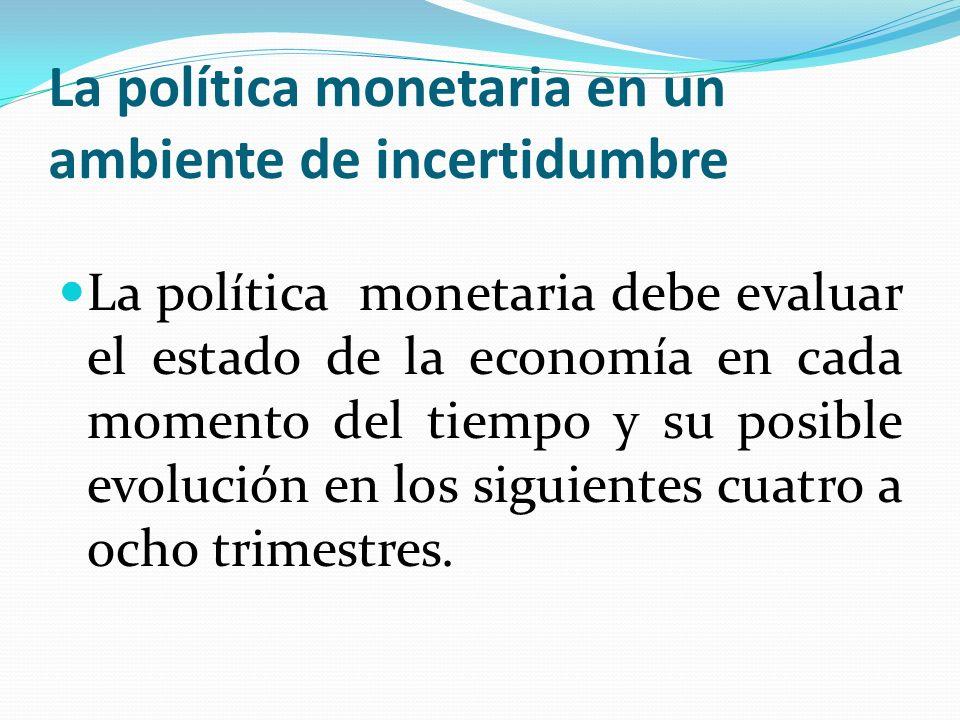 La política monetaria en un ambiente de incertidumbre