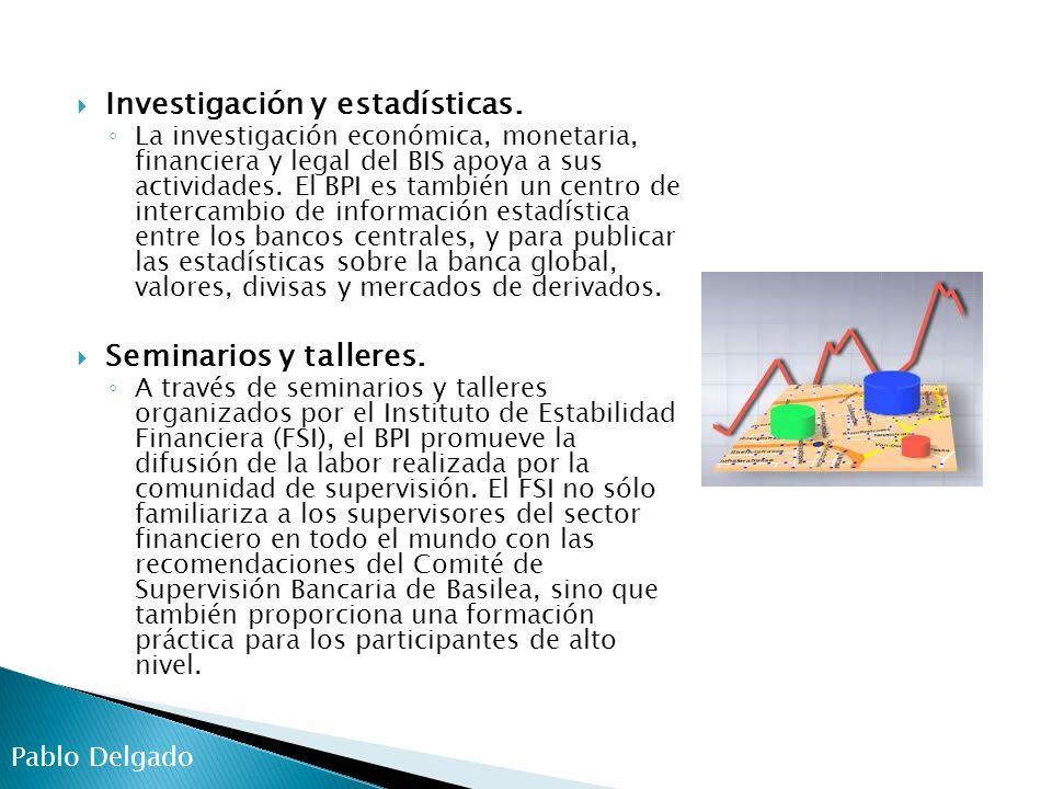 Investigación y estadísticas.