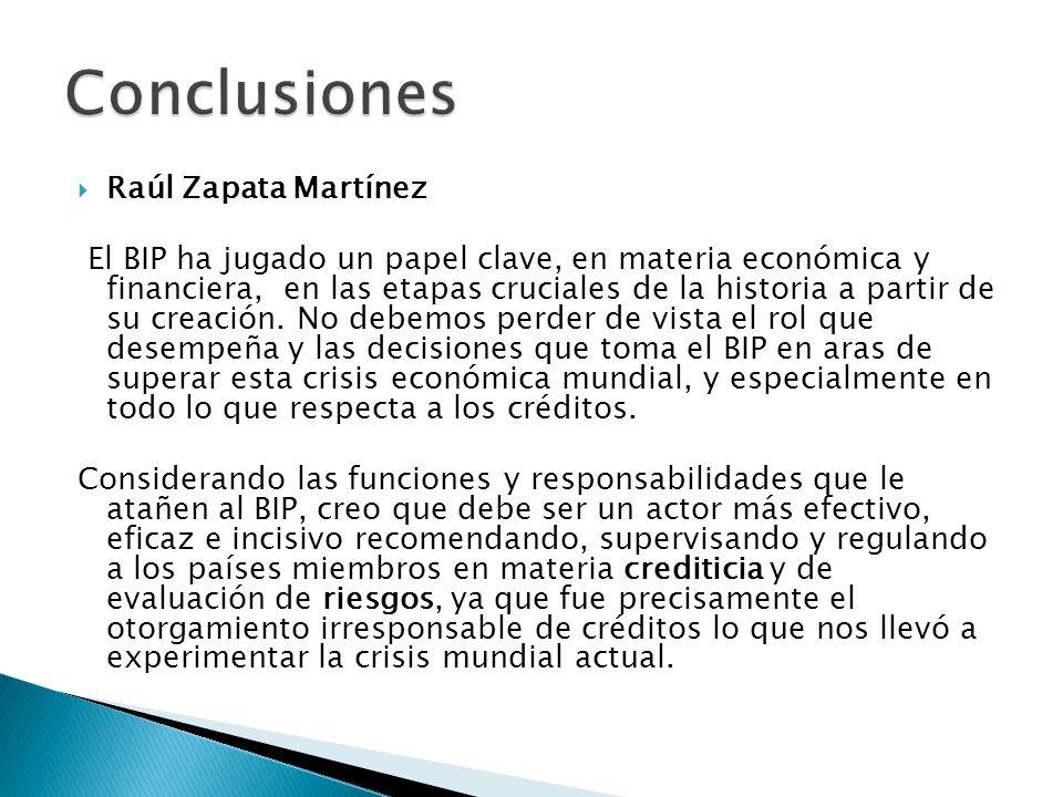 Conclusiones Raúl Zapata Martínez