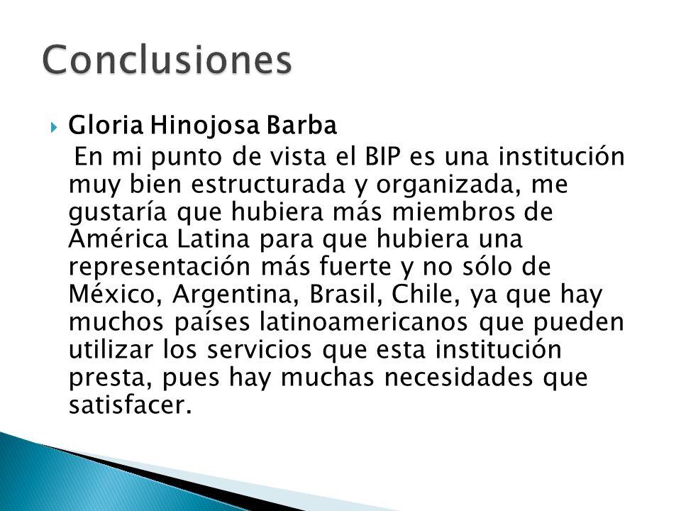 Conclusiones Gloria Hinojosa Barba