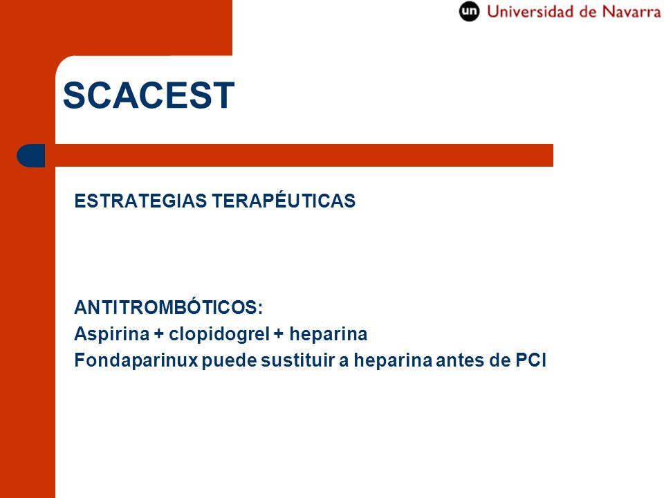 SCACEST ESTRATEGIAS TERAPÉUTICAS ANTITROMBÓTICOS: