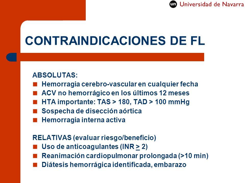 CONTRAINDICACIONES DE FL