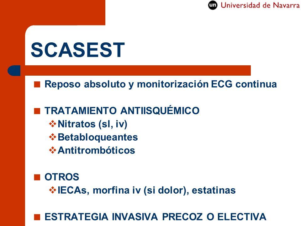 SCASEST Reposo absoluto y monitorización ECG continua
