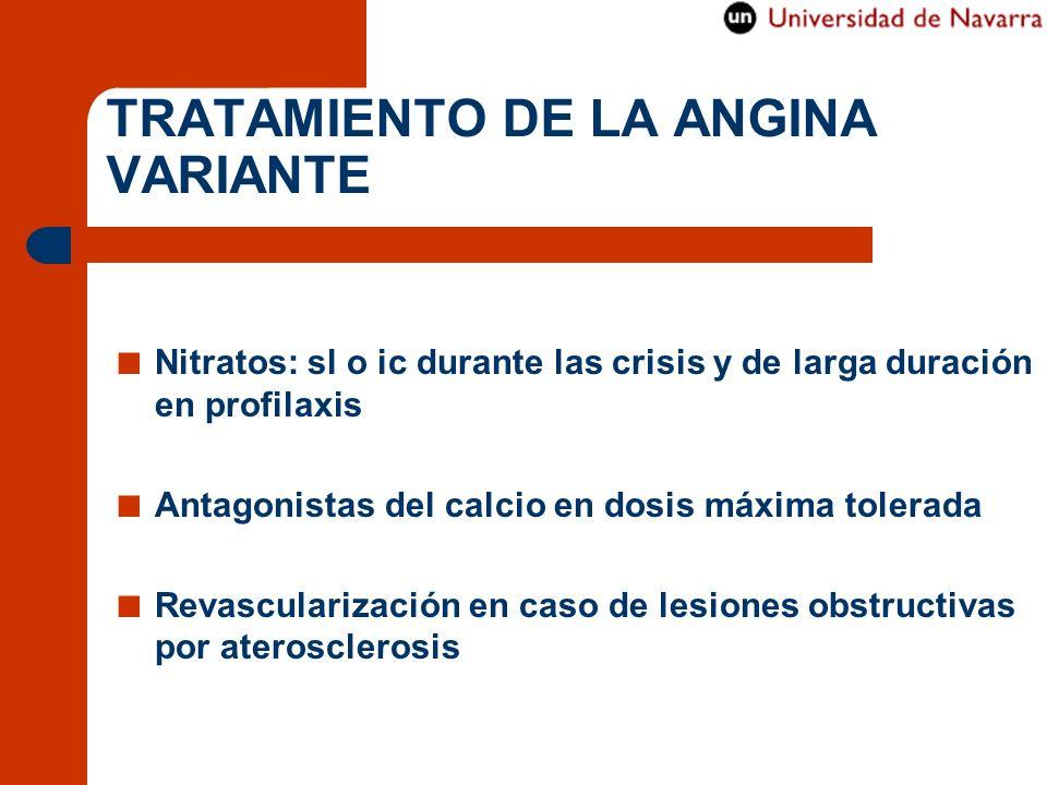 TRATAMIENTO DE LA ANGINA VARIANTE