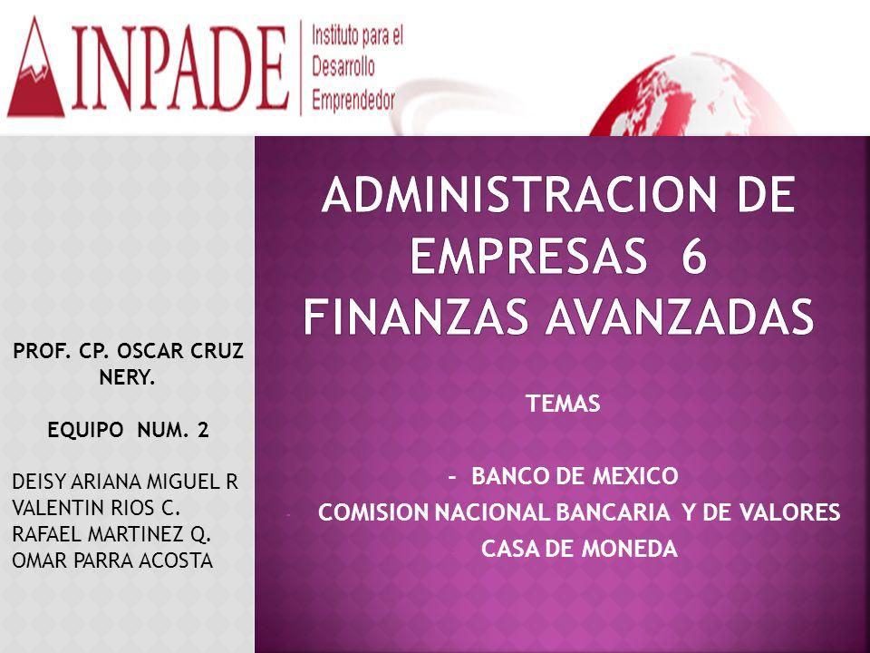 ADMINISTRACION DE EMPRESAS 6 FINANZAS AVANZADAS