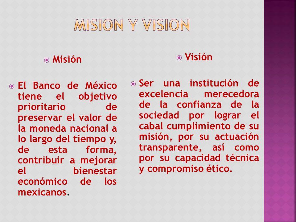 MISION Y VISION Visión Misión
