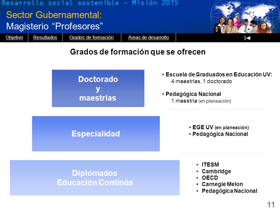 Sector Gubernamental: Magisterio Profesores