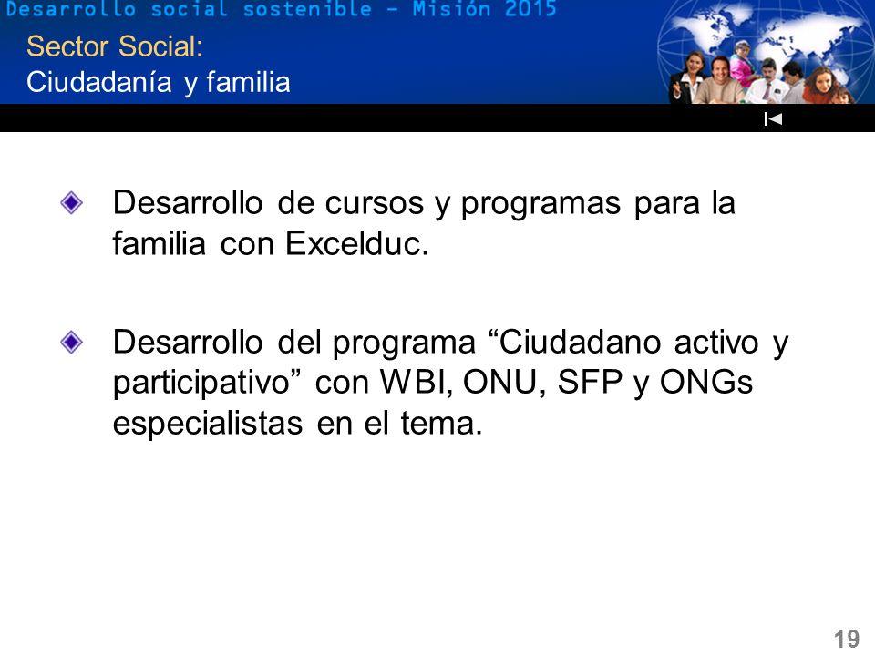 Sector Social: Ciudadanía y familia