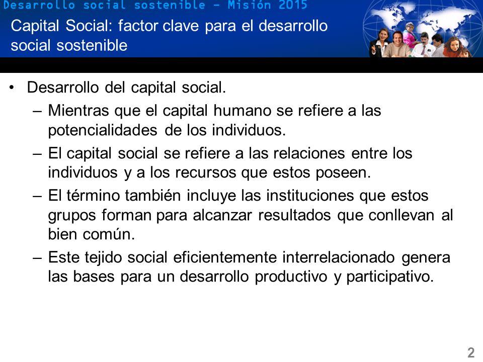 Capital Social: factor clave para el desarrollo social sostenible