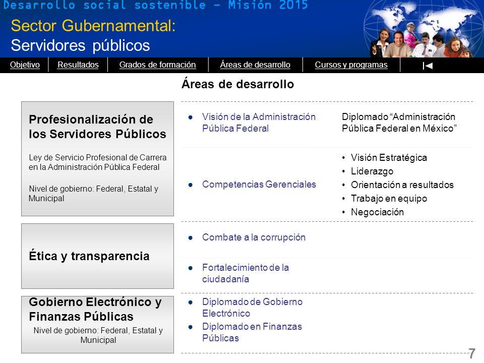 Sector Gubernamental: Servidores públicos
