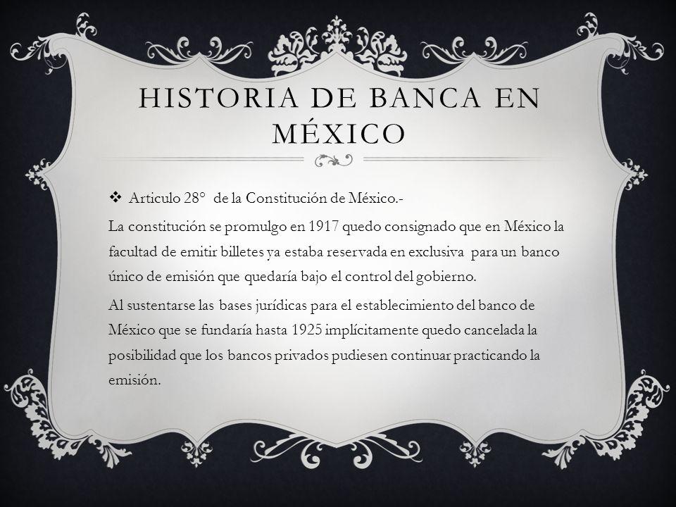 Historia de banca en México