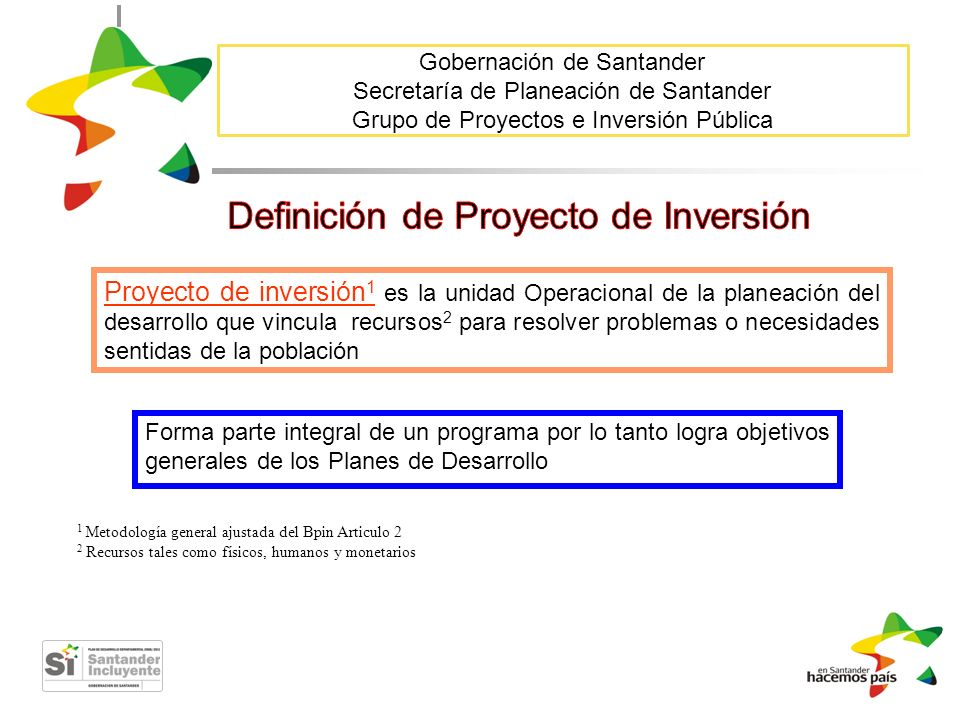 Definición de Proyecto de Inversión