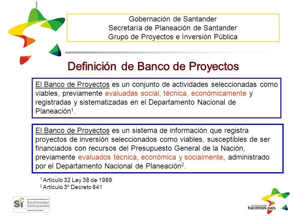 Definición de Banco de Proyectos