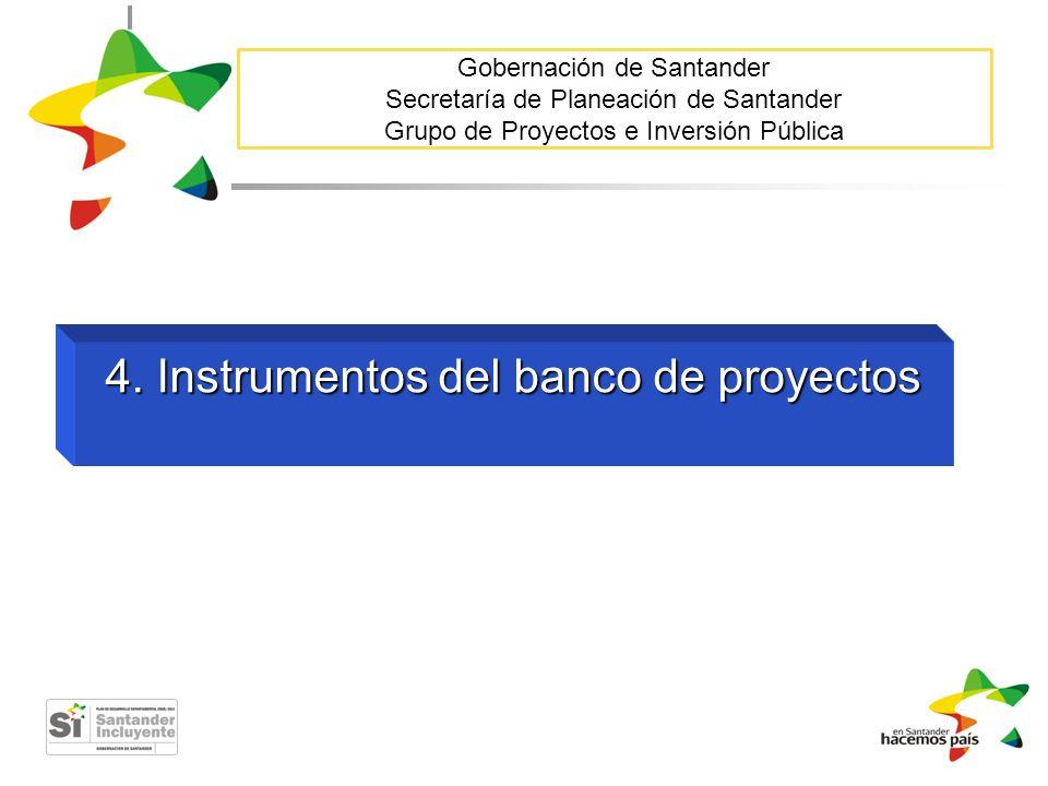 4. Instrumentos del banco de proyectos