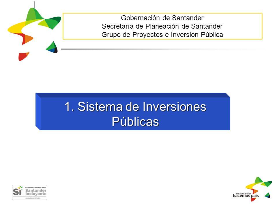 1. Sistema de Inversiones Públicas