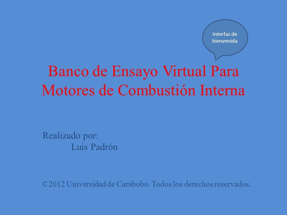Banco de Ensayo Virtual Para Motores de Combustión Interna