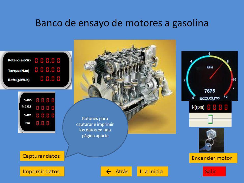 Banco de ensayo de motores a gasolina