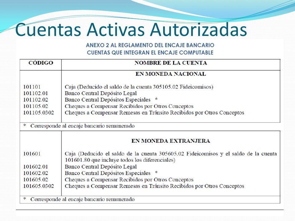 Cuentas Activas Autorizadas