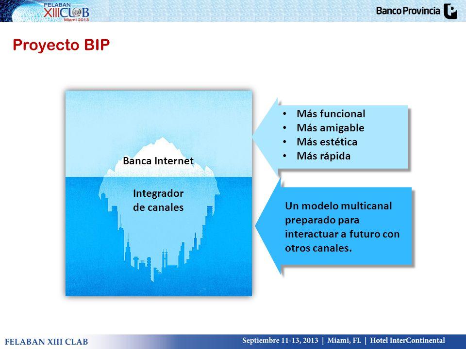 Proyecto BIP Más funcional Más amigable Más estética Más rápida