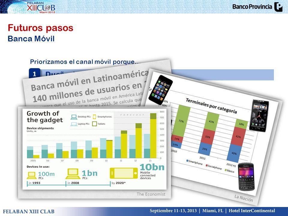 Banca móvil en Latinoamérica: 140 millones de usuarios en 2015