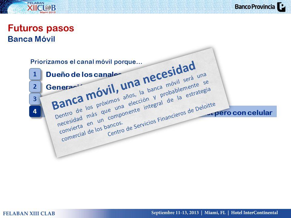 Banca móvil, una necesidad
