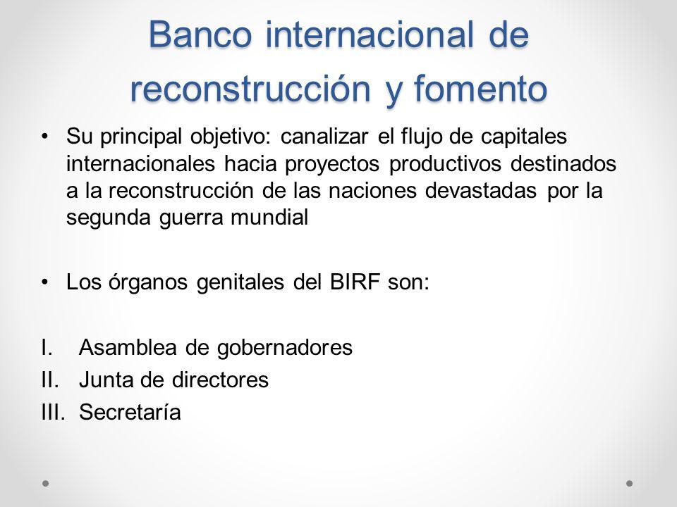 Banco internacional de reconstrucción y fomento