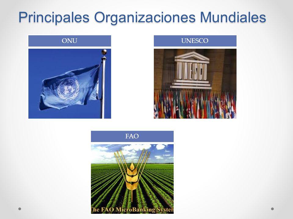 Principales Organizaciones Mundiales