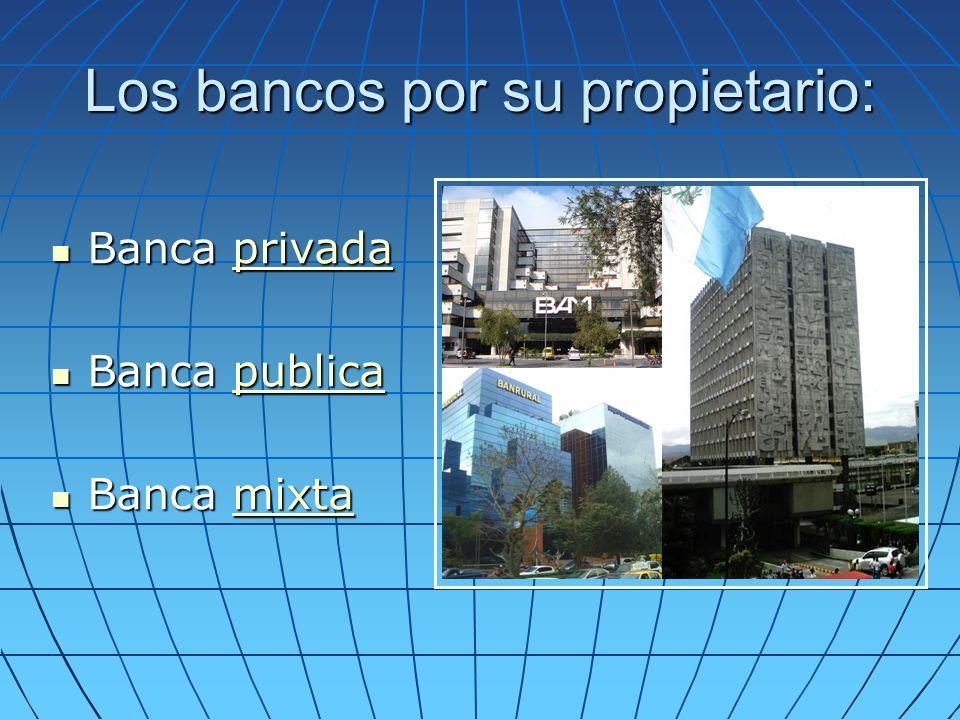 Los bancos por su propietario: