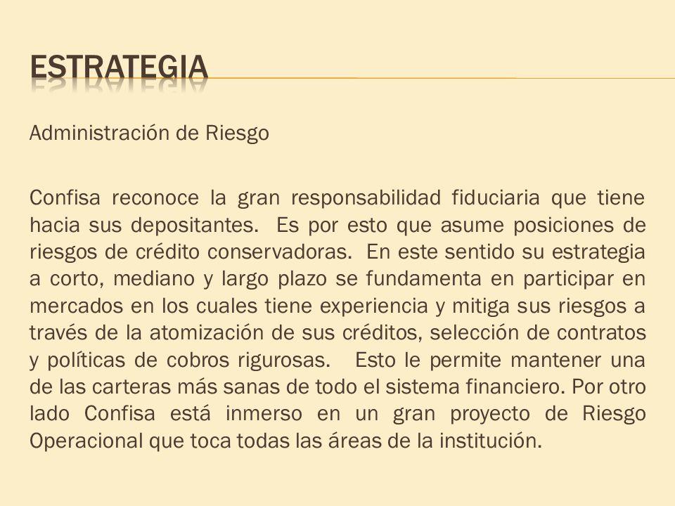 Estrategia Administración de Riesgo