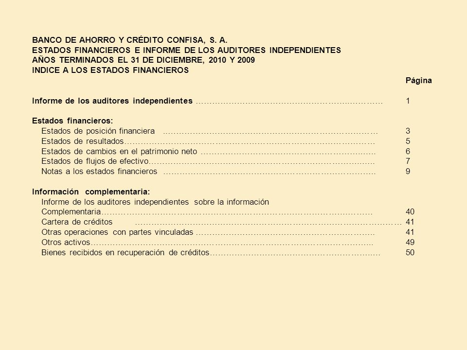 BANCO DE AHORRO Y CRÉDITO CONFISA, S. A.