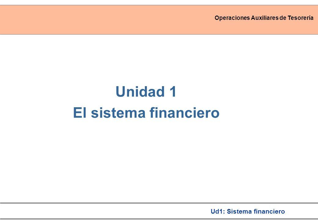 Unidad 1 El sistema financiero